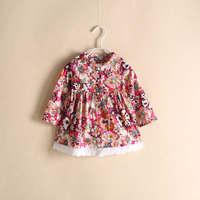 2015 New Spring foreign trade original single girls floral shirt Children Kids Doll shirt 6pcs/lot