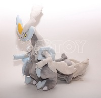 Amazing White Kyurem-EX New Coming Pokemon Plush Toys 40cm Pokemon Animals Soft Stuffed