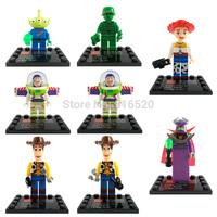 Toy 4 Story Minifigures 8pcs/lot Classic Toys DIY Building Blocks Sets Model Bricks Figures Toys For Children