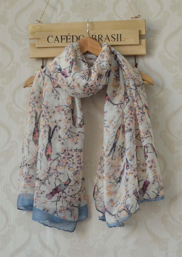 Garden Style Pashmina Floral Print Long Women Scarf Muslim Scarves Shawls Winter Muslim Wraps (180*100cm)(China (Mainland))
