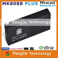 MK808B Plus Android 4.4 HDMI TV Stick TV Dongle Amlogic M805 Quad-Core 1GB 8GB Mini PC Bluetooth XBMC Miracast/DLNA