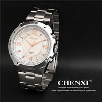 New CHENXI High Quality Fashion Men Calendar Sports Watch Full Steel Casual Watch Analog Quartz Watch relogio masculino