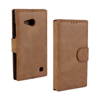 1PCS  Matte Pu Wallet  Leather Cover Case for  Nokia Lumia 730 735  Leather Case With Stand card Holder
