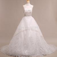 sexy crystal wedding dress 2015 vestidos de noiva lace wedding dresses fashionable vestidos robe de mariage real photo 636
