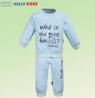 girls boys clothing sweatshirt 100% cotton plus velvet sports set child pullover pajama for children