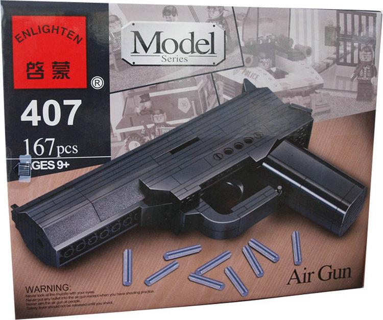 Assembling Toy Gun Pistol Building Blocks Sets Shooting Handgun Construction Bricks Educational Learning Machine Children Gift(China (Mainland))