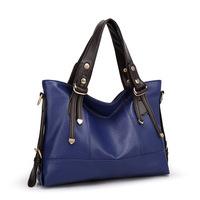 2015 women handbags Fashion high quality pu leather handbags Female Leather shoulder bags large messenger bags