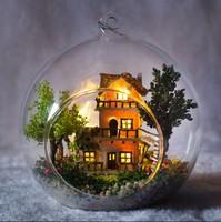 DIY LED LIGHT crystalball mini-series Dollhouse norway  tree house  kit