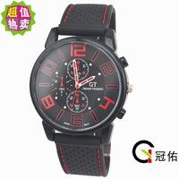 Fashion Men's Women Unisex Watches GT Sport Racing Car Quartz Watch Military Army Quartz Silicone watches