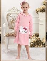 New 2015 Hello Kitty Children Baby Girls Clothing dress girls kids Clothes sleepwear cartoon long sleeve pajamas
