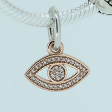 Fits Pandora Bracelet Eye dangle Silver Beads New Original 100% 925 Sterling Silver Jewelry Charms DIY Women Jewlry Wholesale