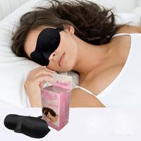 Wholesale 3D Seamless Soft Sponge Cover Shading Sleep Eyes Masks For Office Bus Plane Ship Night Confortable Sleeping Mask