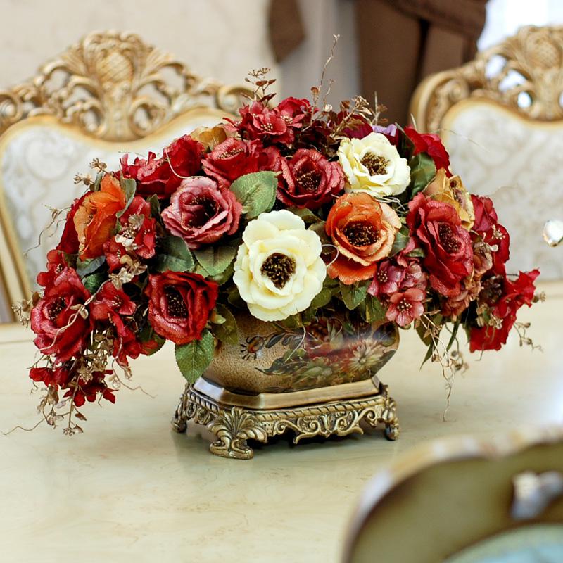 Tribunal europeu de retro flor tabela flor decoração de lareira decoração flores artificiais floral geral(China (Mainland))