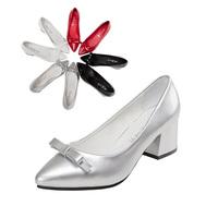 2015 spring hot sale free shipping medium heel wedge shoes women sexy dress footwear fashion lady spring pumps58