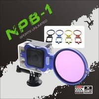 NEOpine NPB-01 58mm Aluminum Alloy UV CPL Lens Filter Adapter Ring for GoPro Hero 3+ 4 Camera free shipping