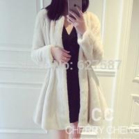 2015 Luxury Lady Genuine Real Piece Mink Fur Coat Patchwork Winter Women's Fur Trench Outerwear Coats Long Sleeve
