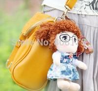 Little Princess plush doll pendant bag pendant cute cartoon mobile phone car key chain ornaments