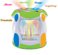 Free shipping!learning & educational musical instruments baby toy 1 year synthesizer drum music toy fountain electronic drum set