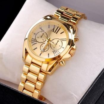 2015 спортивные часы мужчины люксовый бренд мода свободного покроя Kors наручные часы мужчин свободного покроя полный стали золотые часы кварцевые Relogio Masculino