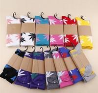 52g Fashion 10pairs = 20pcs Plantlife Cannabis Marijuana Style Weed Socks Men's Skateboard Cotton Calcetines Sport Socks Hip Hop