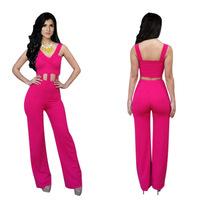 2015 new  women yellow clothing Rose Red  bandage Sleeveless dresses   free shipping KM015