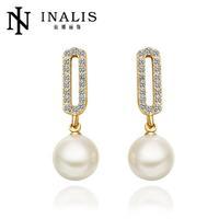 E645 Graceful Bijoux Tassel Dangle Golden Earrings Big Drop Earrings Austrian Crystal Statement Christmas Gift For Women