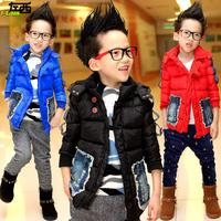 Children's clothing winter 2014 male child wadded jacket outerwear thickening child cotton-padded jacket boy big boy zy285