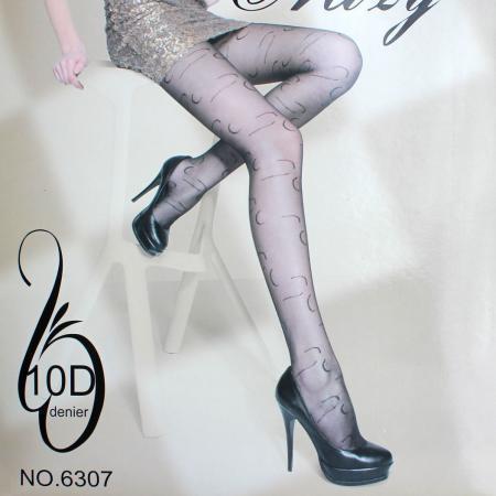 2015 new arrival freeshipping hot selling Stripe Pattern Fashion Thin 10 Denier Tights Black(China (Mainland))