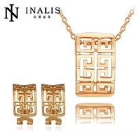 S385 Factory Vintage Real 18K Gold Plated Jewelry Sets For Women Charm Jewelry Best Gift