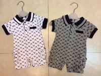 2015 Baby Rompers Summer New Short-sleeve Infants' One-Piece Jumpsuit Brand Style Newborns Bodysuit 6pcs/lot