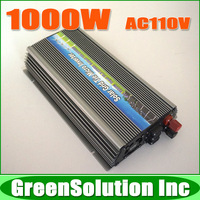 1KW 1000W 18V MPPT Grid Tie Micro Solar Inverter Pure Sine Wave 10.5~28V DC Input, Output 90~140V AC for 1200W 18V Solar Panel