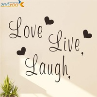 free shipping live laugh love family wall decals zooyoo8176 decorative wall art removable vinyl wall stickers home decorations