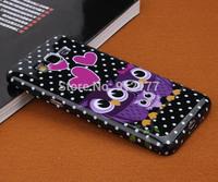 G530 New Case, Cute Cartoon Owl Soft Rubber Case Cover for Samsung Galaxy Grand Prime G530 G530H G5308W Case