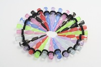 free shipping 8mm mix color ear tapers body piercings jewelry spinning line logo picture ear plugs