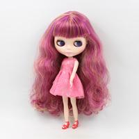 12 inch doll B female doll nude Blyth doll Pu modified DIY make up purple long hair with bangs bjd dolls for sale