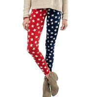 2015 Bigger Size XS S M L XL XXL Women's Fashion Cute Star Leggings Student's Sweet Half Color Leggings3368