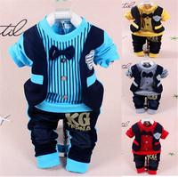 New 2015 Bow-tie Korean fashion Baby clothing sets baby boy vest gentleman style suit  Kids 100% cotton children's Spring sets