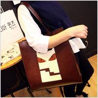 2015 spring new fashion handbags big bag trend lovely personality handbag shoulder bag large capacity