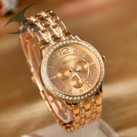 Free Shipping Relogio Feminino Luxury Brand Women Rhinestone Watches Geneva Watch Montre reloj mujer marcas famosas de lujo