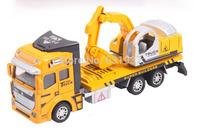 1:48 DiBang Pull Back Truck Model Car excavator Alloy Metal & Plastic Toy Cars for Children Gift for Boys Free Shipping