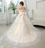 champagne lace wedding dress 2015 vestido de noiva wedding dresses casamento fashionable plus size vestidos ball gown