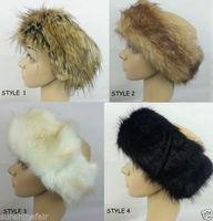 Faux Fur Fashion Headband headbands Fleece Lined Womens Ski head warmers hat Ear Muffs