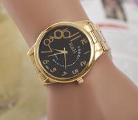 Hot Sale 2014 Fashion Rhinestones M&H Top Brand Wristwatches High Luxury Watches women men Quarz Watch Free shipping
