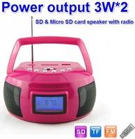 High quality best price Universal Home Stereo Speaker Mp3 player USB,TFCard Portable Speaker FM Radio Digital Speaker