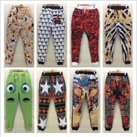 Hot sale!2015 New Marilyn Monroe/Monster university/Rihanna 3D printing men/women joggers pants sweatpants  pantalones hombre
