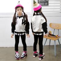 Casual Children's Wear Sweatshirts Clothing Autumn Long Sleeve Printed Pullover Jacket Kids Girls Hoodies Meninas Vestir CT212
