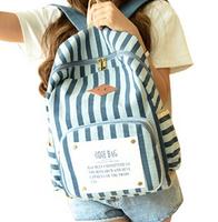 Fashion Stripe Women Backpack vintage ladies School Bags casual Travel bags College Students rucksack bolsas mochila femininas