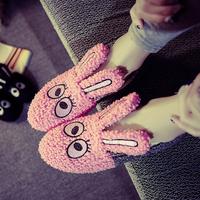 ming-056 Korean version of the fall and winter bunny cartoon panda Flats Fashion plush cotton-padded shoes Free Shipping