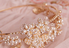 2015 top quality Hand Made Unique Rhinestone Clear Crystal flower Wedding Party Women Bridal Accessories Hair