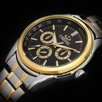 New Fashion Brand CHENXI Golden Style Men Sports Watch water resistant Full Steel Casual Analog Quartz Watch relogio 3 colors